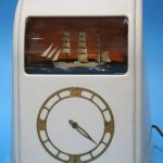 A white Bakelite cased Vitascope clock, labelled 'Vitascope Industries Ltd'. Sold in our 11th January Antique and Interiors sale for £240